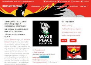 Close Pine Gap Website