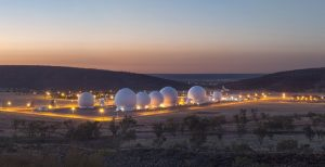 Pine Gap at night