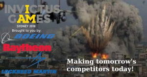 Take Action on Arms Traders at the Invictus Games – #Disrupt2018