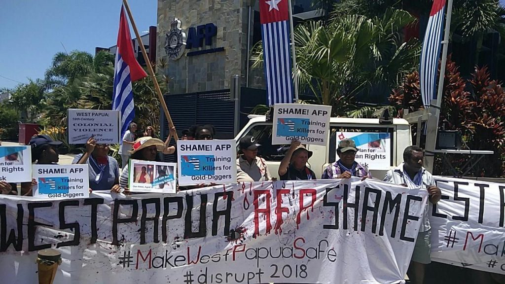 Protest in solidarity with West Papua, AFP Cairns