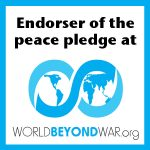 Badge: Endorser of the peace pledge at WordBeyondWar.org
