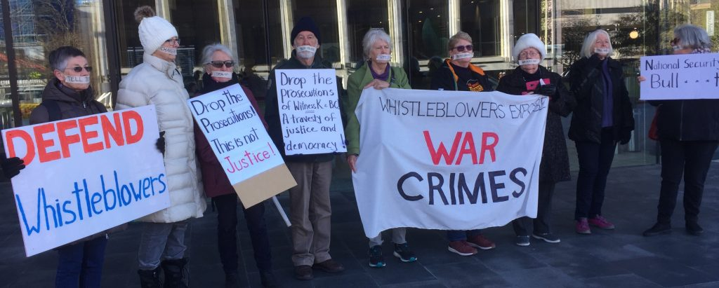 Whistleblowers expose War Crimes. Third gathering outside the Supreme Court 18th July 2019